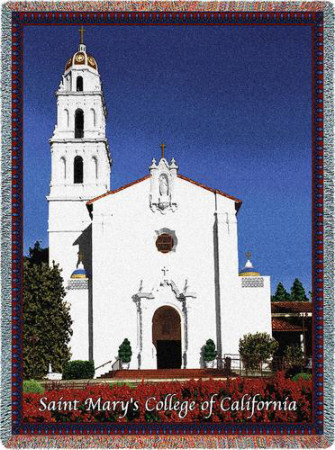 St Mary's College of California Chapel Throw Blanket