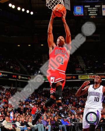 Derrick Rose Dunk photo 2010-11 Action basketball pic