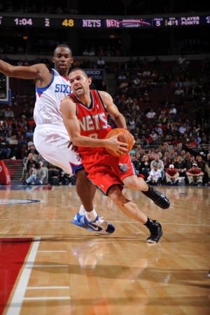 New Jersey Nets v Philadelphia 76ers: Jordan Farmar Photographic Print