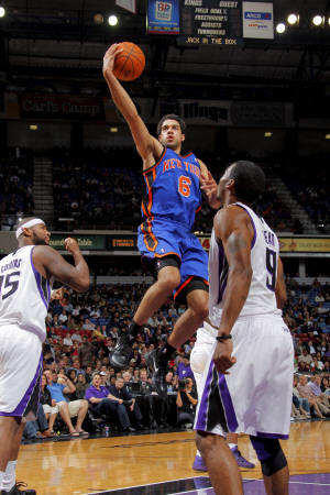 New York Knicks v Sacramento Kings: Landry Fields Photographie