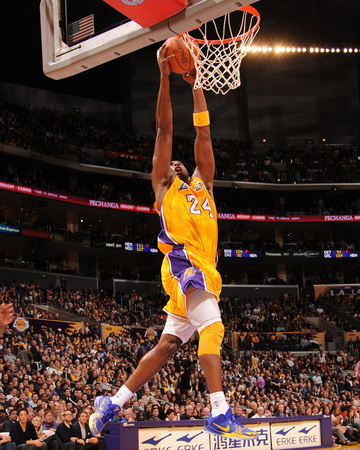 Kobe Bryant Dunking Highlight during a Sacramento Kings vs LA Lakers game sport basketball photo poster by Andrew Bernstein