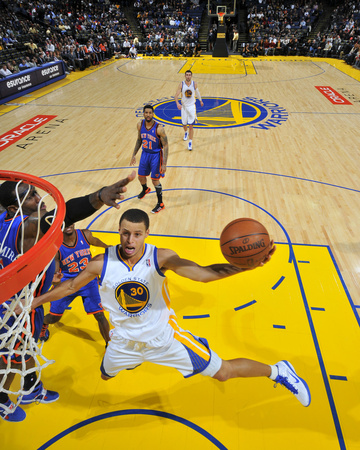 New York Knicks v Golden State Warriors: Stephen Curry Photographic Print