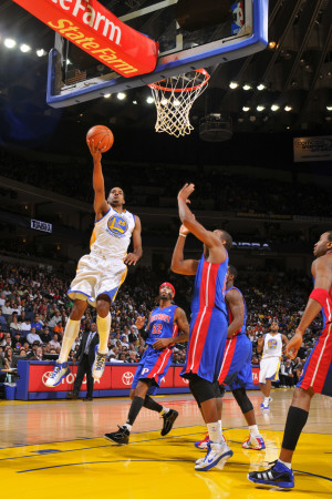 Detroit Pistons v Golden State Warriors: Rodney Carney Photographic Print
