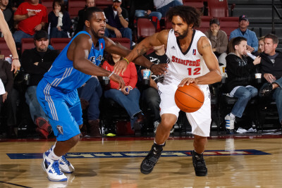 Texas Legends v Idaho Stampede: Salim Stoudamire and Justin Dentmon Photographic Print