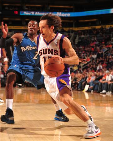 Washington Wizards v Phoenix Suns: Steve Nash and John Wall Photo by Barry Gossage