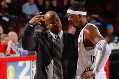 Texas Legends v Idaho Stampede: Randy Livingston and Walter Sharpe Photographic Print