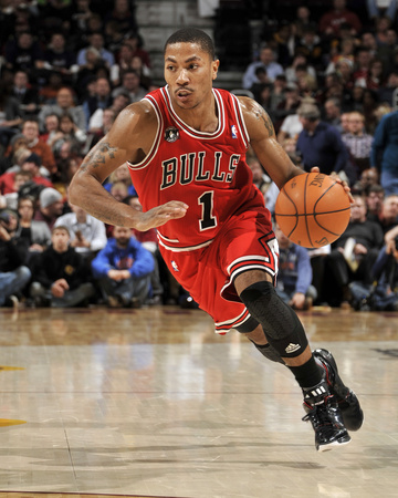 Chicago Bulls v Cleveland Cavaliers: Derrick Rose Photographic Print