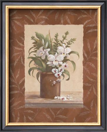 Sylvia's Orchids I Art by Vivian Flasch
