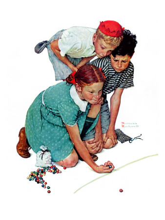 """""""Marble Champion"""" or """"Marbles Champ"""", September 2,1939 Giclee Print by Norman Rockwell"""