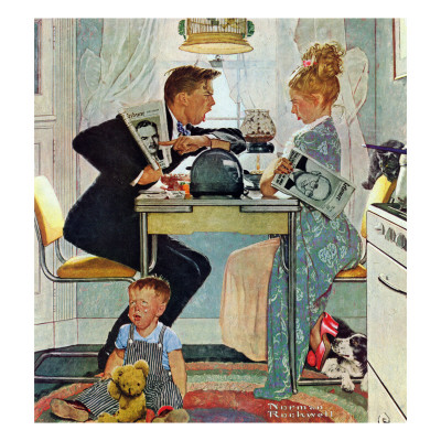 """""""Dewey v. Truman"""", October 30,1948 Giclee Print by Norman Rockwell"""