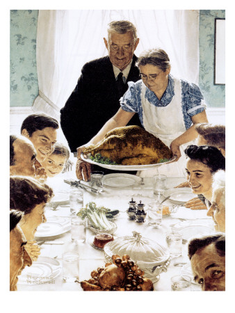 """""""Freedom From Want"""", March 6,1943 Giclee Print by Norman Rockwell"""