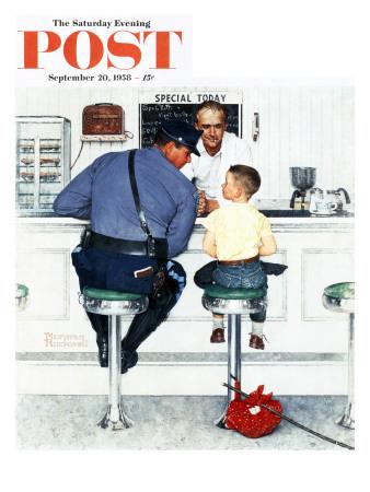 """Runaway"" Saturday Evening Post Cover, September 20,1958 ジクレープリント : ノーマン・ロックウェル"