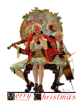 """""""Three Victorian Musicians"""", December 12,1931 Giclee Print by Norman Rockwell"""