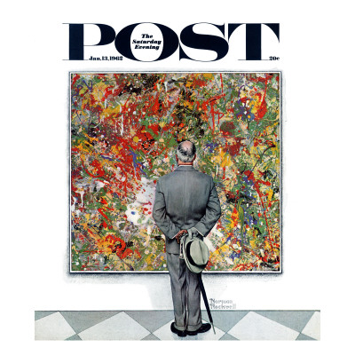 """Art Connoisseur"" Saturday Evening Post Cover, January 13,1962 Giclee Print by Norman Rockwell"