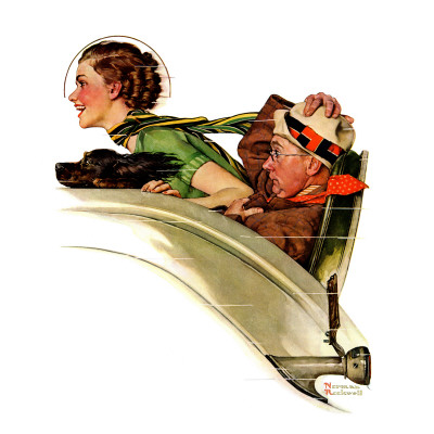 """""""Exhilaration"""", July 13,1935 Giclee Print by Norman Rockwell"""