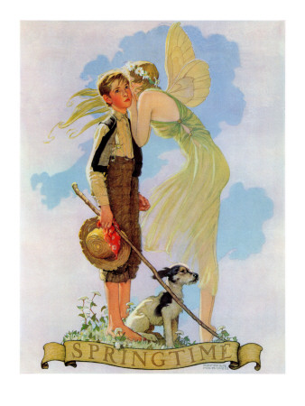 """Springtime, 1933"", April 8,1933 Giclee Print by Norman Rockwell"