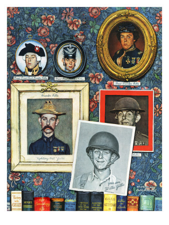 """Willie Gillis Generations"", September 16,1944 Giclee Print by Norman Rockwell"