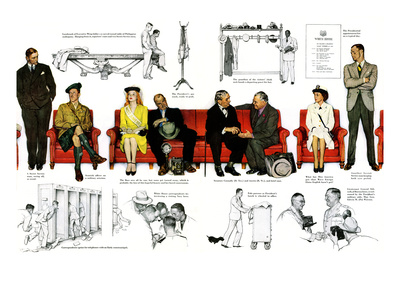"""""""So You Want to See the President"""" B, November 13,1943 Premium Giclee Print by Norman Rockwell"""