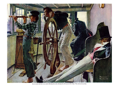 """""""River Pilot"""", September 21,1940 Giclee Print by Norman Rockwell"""