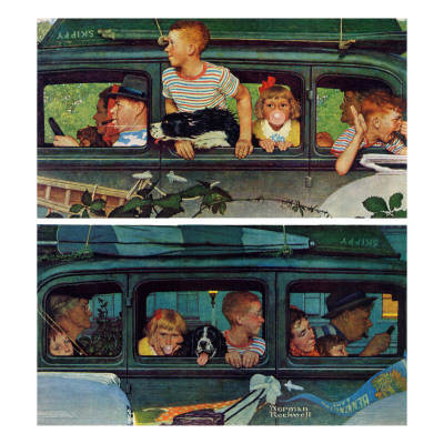 """""""Outing"""" or """"Coming and Going"""", August 30,1947 Giclee Print by Norman Rockwell"""