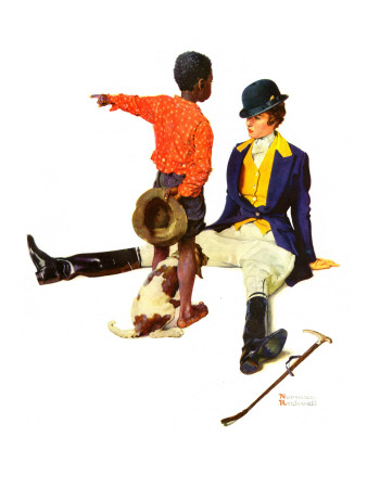 """""""Thrown from a Horse"""", March 17,1934 Giclee Print by Norman Rockwell"""