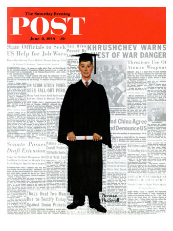 """Graduate"" Saturday Evening Post Cover, June 6,1959 Giclee Print by Norman Rockwell"