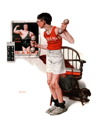 """Champ or Be a Man"", April 29,1922 Giclee Print by Norman Rockwell"