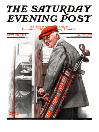 """Important Business"" Saturday Evening Post Cover, September 20,1919 Giclee Print by Norman Rockwell"