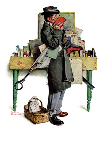"""""""Bookworm"""", August 14,1926 Giclee Print by Norman Rockwell"""