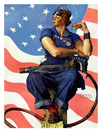 """""""Rosie the Riveter"""", May 29,1943 Giclee Print by Norman Rockwell"""
