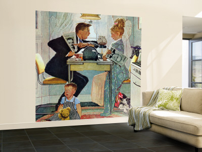 """Dewey v. Truman"" Saturday Evening Post Cover, October 30,1948 Wall Mural – Large by Norman Rockwell"