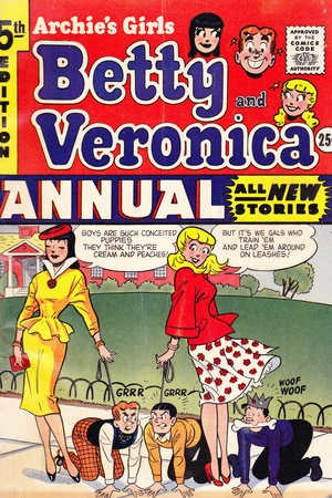 Archie Comics Retro: Archie's Girls Betty and Veronica Annual Comic Book Cover 5th Edition (Aged) Prints
