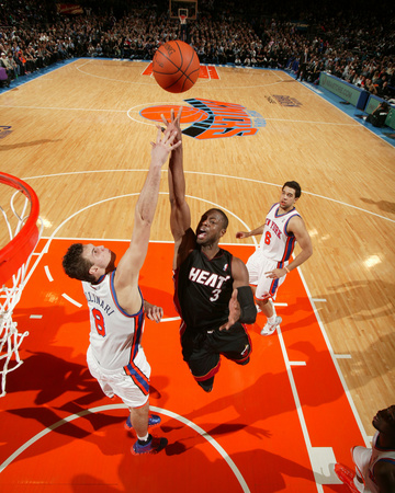 Miami Heat v New York Knicks: Dwyane Wade and Danilo Gallinari Photo by Nathaniel S. Butler
