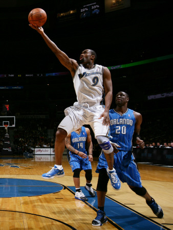 Orlando Magic v Washington Wizards: Gilbert Arenas and Mickael Pietrus Photographie