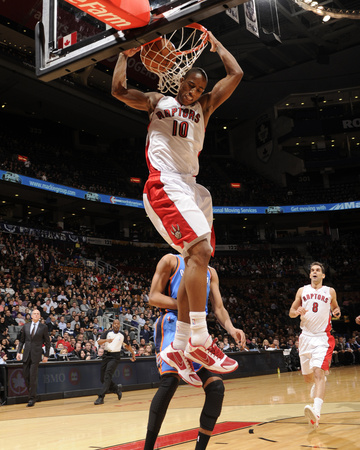 Oklahoma City Thunder v Toronto Raptors: DeMar DeRozan Photo by Ron Turenne