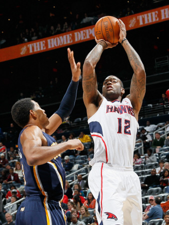 Indiana Pacers v Atlanta Hawks: Josh Powell and Danny Granger Photographic Print