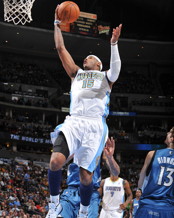 Minnesota Timberwolves v Denver Nuggets: Carmelo Anthony Photographic Print