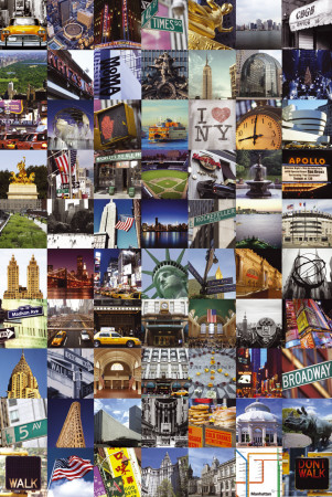 Collage de New York Affiche