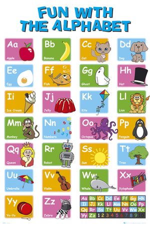 EDUCATIONAL - Alphabet Plakat