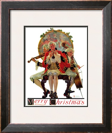 """""""Three Victorian Musicians"""", December 12,1931 Framed Giclee Print by Norman Rockwell"""