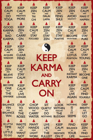 KEEP KARMA & CARRY ON Plakát