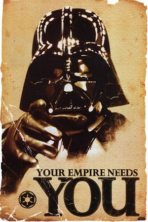 STAR WARS, Dit imperie har brug for dig, på engelsk Plakat