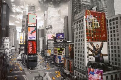 NEW YORK, Luftfoto af Times Square Plakat