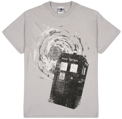 Dr Who - B&W Tardis New Logo T-Shirt