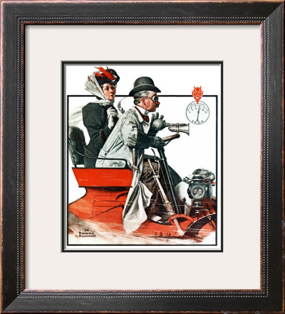 """Speeding Along"", July 19,1924 Framed Giclee Print by Norman Rockwell"