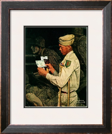 """War Bond"", July 1,1944 Framed Giclee Print by Norman Rockwell"