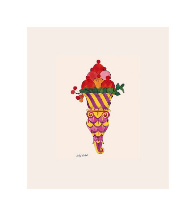 Ice Cream Dessert, c.1959 (Fancy Red) Giclee Print by Andy Warhol