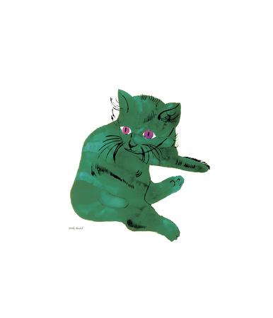 Zelená kočka (Green Cat, cca1956) Digitálně vytištěná reprodukce