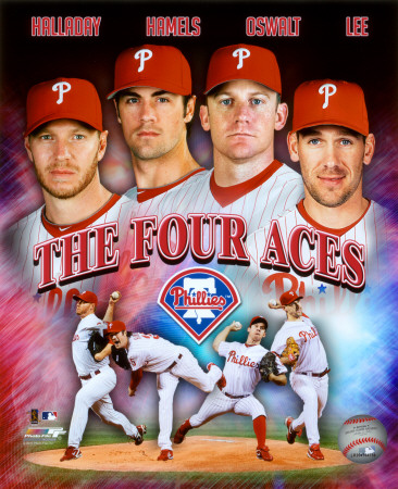 The Philadelphia Phillies Four Aces Portrait Plus Photo