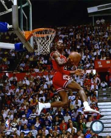 Michael Jordan 1987 slam dunk contest photo poster